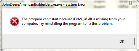 Fix D3dx928.dll Error