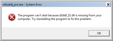 Fix D3dx9_32.dll Error