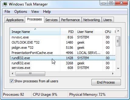 Fix Rundll.exe Maxing Out My CPU Error
